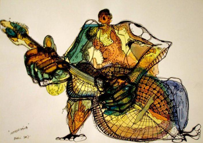 Perokresby a kolorované kresby Markéty Gregorovej