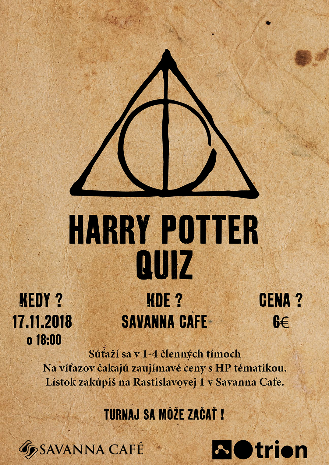 Harry Potter Quiz Plagát
