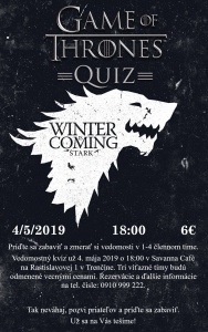 Game of Thrones - Kvíz